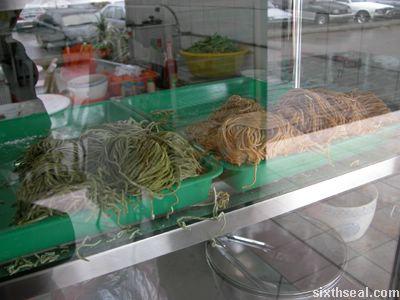 green orange noodles