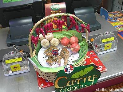 kfc curry crunch display