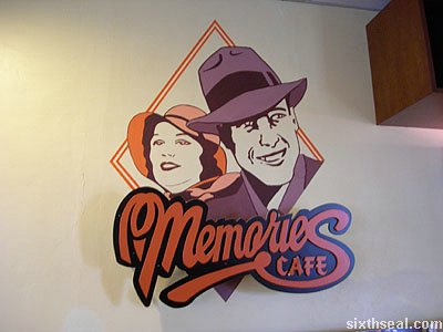 memories grand cafe sign