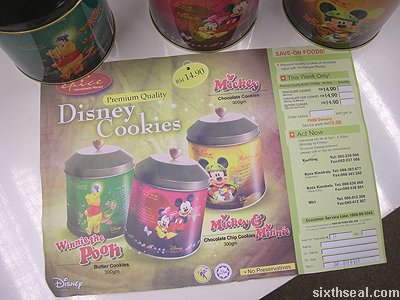 disney cookies flyer