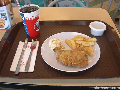 kfc chicken chop meal