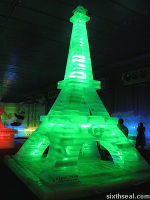 ice eiffel tower