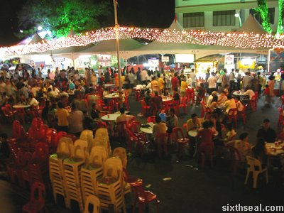 open air food court