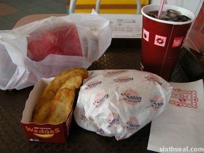 satay burger combo