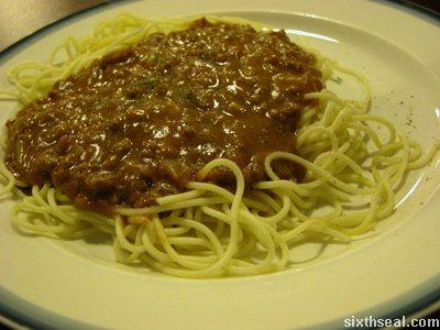 the bomba spagetti