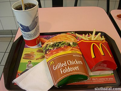 mcd new chicken foldover