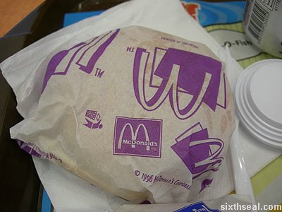 mcpork burger wrapper