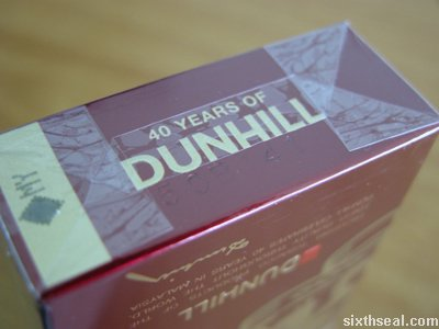 dunhill 40 pack bottom