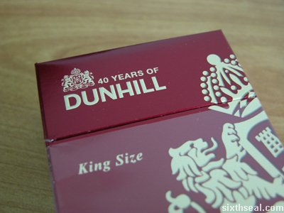 dunhill 40 pack open