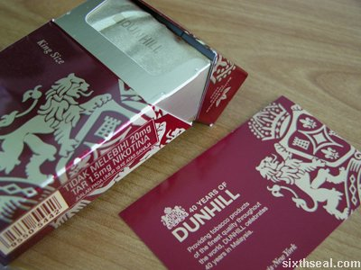 dunhill 40 pack revealed