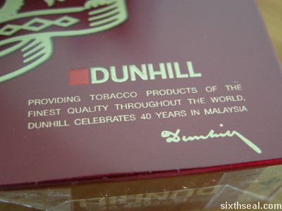 dunhill 40 pack sig
