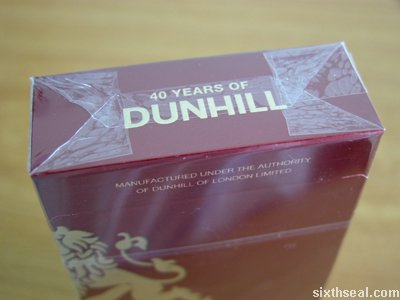 dunhill 40 pack top