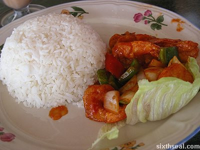 homex prawn rice