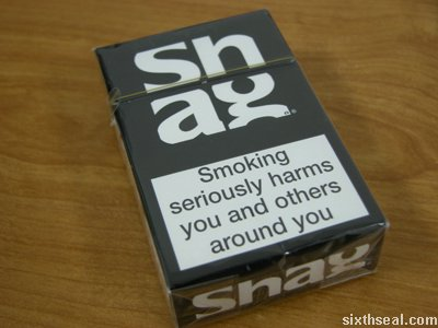 shag cigarettes front