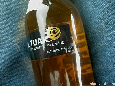 copial tuak rice wine