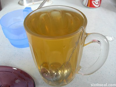 metal sphere tea drink