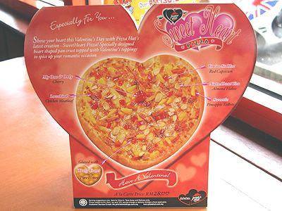 sweet heart pizza