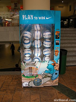 nike football vending machine