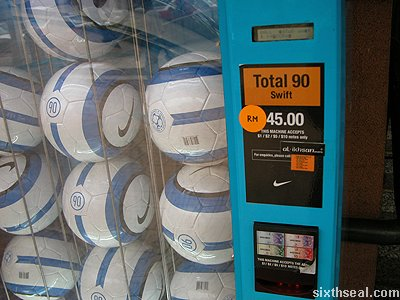 nike football vending machine RM45