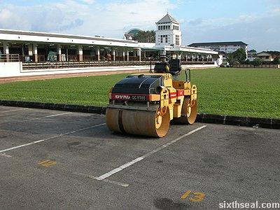 steamroller parking