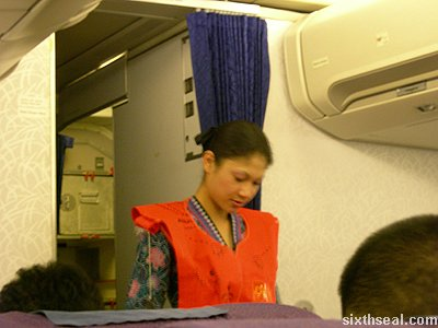 business class cabin crew
