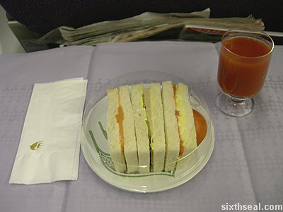 business class tray