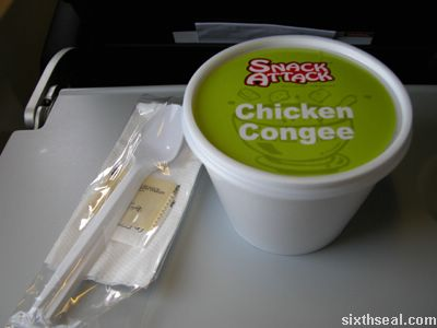snack attack chicken congee