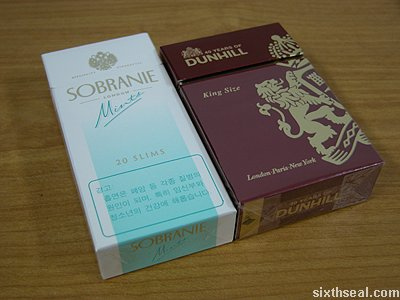 sobranie mints pack compare