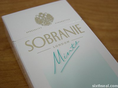 sobranie mints specialty cigarettes