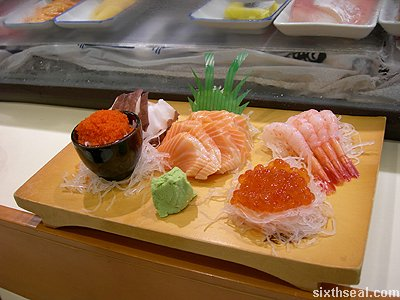 sashimi platter