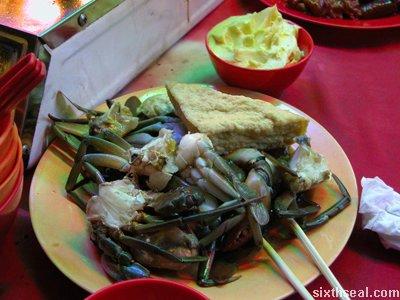 hornbills crabs
