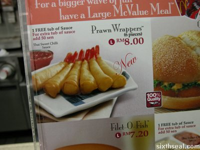 mcd prawn wrapper