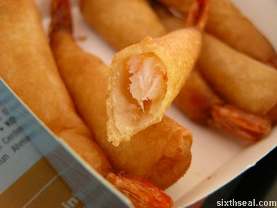 prawn wrapper closeup