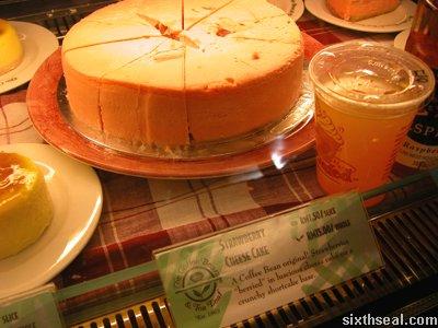 strawberry cheesecake display