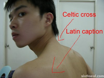 Simple Celtic Cross Tattoo