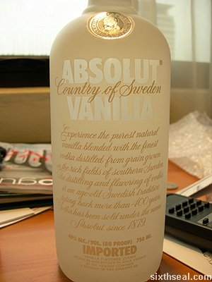 absolut vanilla text