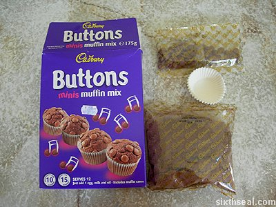 cadbury buttons minis muffin mix