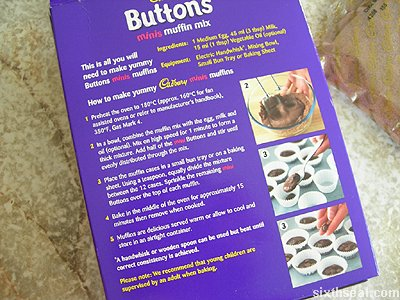 cadbury buttons minis muffin mix instructions