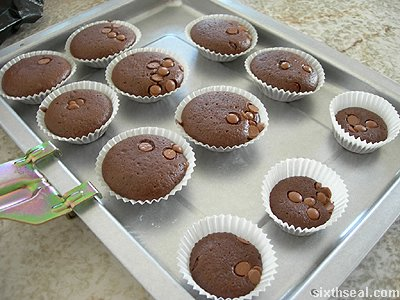 cadbury buttons muffins baked