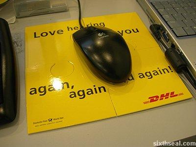 dhl puzzle mousepad