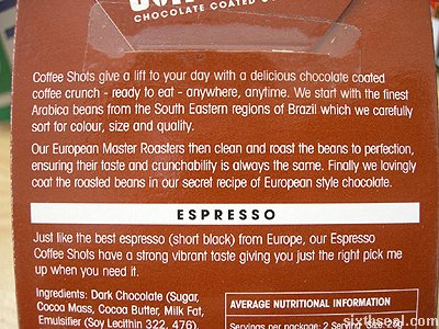 espresso coffee shots text