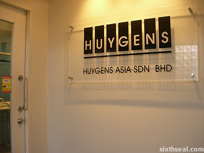 huygens office signboard