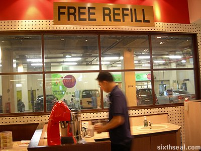 shokudo free refill