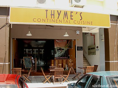 thymes continental cuisine