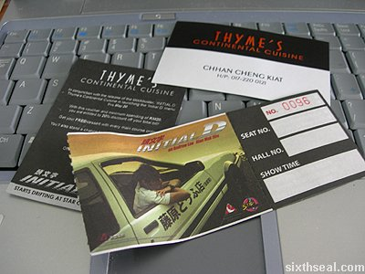 thymes initial d movie tickets