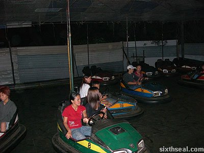 lundu funfair bumper cars people