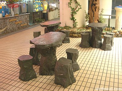stone ice seating