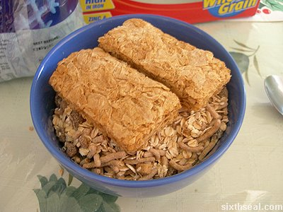 weet bix cereal layer