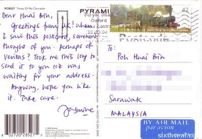 jasmine postcard