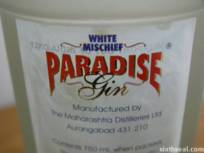 white michief label